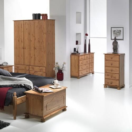 Copenhagen 2+3+4 Drawer Extra wide chest in Cream//Pine