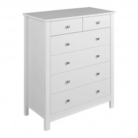 Florence 4+2 chest in White