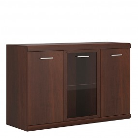 Imperial 3 Door Glazed Sideboard in Dark Mahogany Melamine