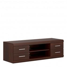 Imperial Wide 4 Drawer TV Cabinet in Dark Mahogany Melamine