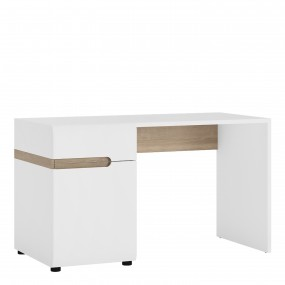 Chelsea Bedroom Desk/Dressing table in white with an Truffle Oak Trim