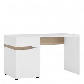 Chelsea Bedroom Desk/Dressing table in white with an Truffle Oak Trim