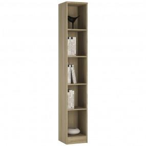 4 You Tall Narrow Bookcase in Sonama Oak