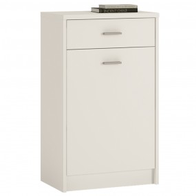 *4 You 1 Drawer 1 Door Cupboard in Pearl White