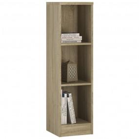 4 You Medium Narrow Bookcase in Sonama Oak
