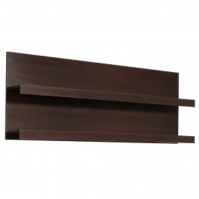 Pello 166 cm Wide Wall Shelf in Dark Mahogany