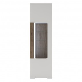 Toronto Tall narrow glazed display cabinet with internal shelves (inc. Plexi Lighting)