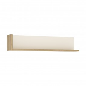 Lyon 120cm wall shelf in Riviera Oak/White