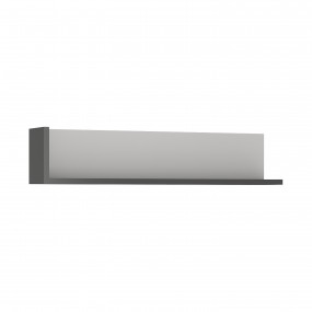 Lyon 120cm wall shelf in Platinum/Light Grey