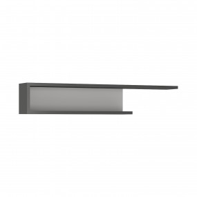 Lyon 140cm wall shelf in Platinum/Light Grey