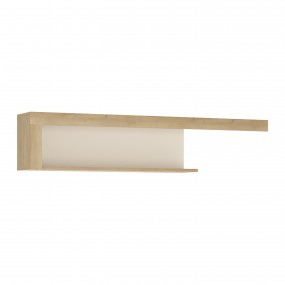 Lyon 130cm wall shelf in Riviera Oak/White