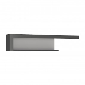 Lyon 130cm wall shelf in Platinum/Light Grey
