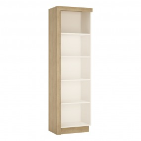 Lyon Bookcase (RH) in Riviera Oak/White High Gloss