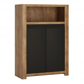 Havana 2 door cupboard with open shelf