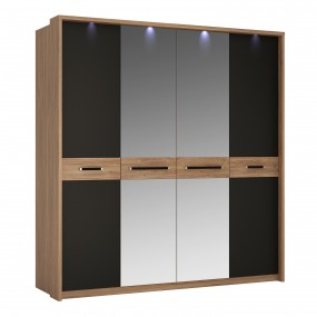 Monaco 4 door wardrobe with mirror doors