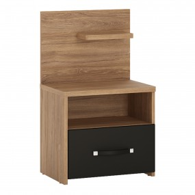 Monaco 1 drawer bedside with open shelf (RH)