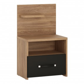 Monaco 1 drawer bedside with open shelf (LH)