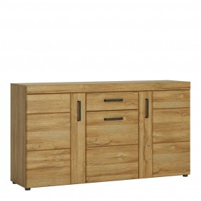 Cortina 3 door 1 drawer sideboard in Grandson Oak