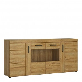 Cortina 4 door wide glazed sideboard in Grandson Oak