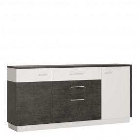 Zingaro 2 door 2 drawer 1 compartment sideboard