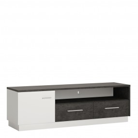 Zingaro 1 door 2 drawer wide TV cabinet