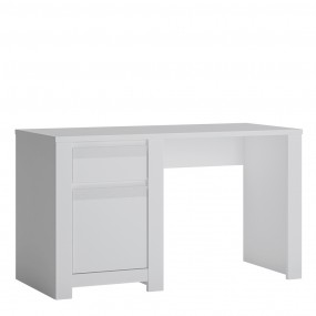 Novi 1 Door 1 Drawer Desk in Alpine White