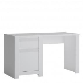 Novi 1 Door 1 Drawer Desk in Alpine White