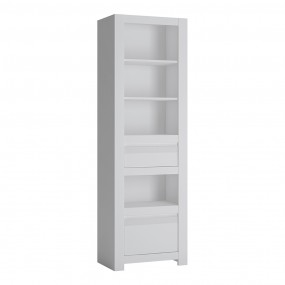 Novi 2 Drawer Bookcase in Alpine White