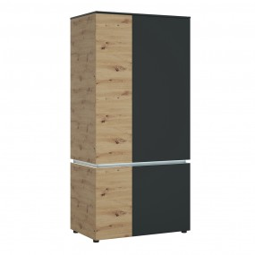 Luci 4 door wardrobe (including LED lighting) in Platinum and Oak