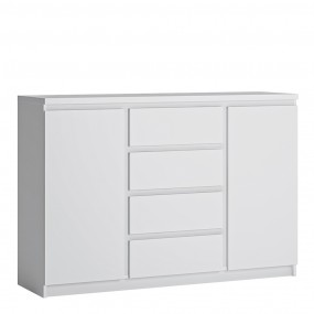 Fribo 2 door 4 drawer sideboard in White