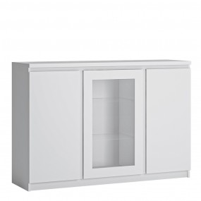 Fribo 3 door sideboard (Glazed centre) in White