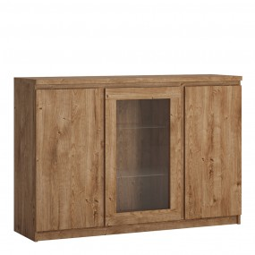 Fribo 3 door sideboard (Glazed centre) in Oak