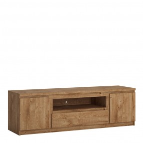 Fribo 2 door 1 drawer 166 cm wide TV cabinet in Oak