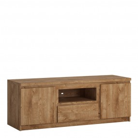 Fribo 2 door 1 drawer 136 cm wide TV cabinet in Oak