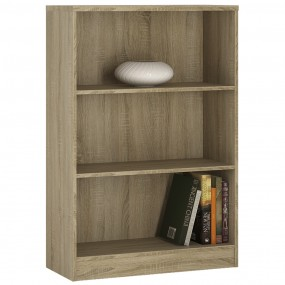 4 You Medium Wide Bookcase in Sonama Oak