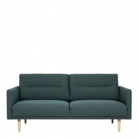Larvik 2.5 Seater Sofa - Dark Green, Oak Legs