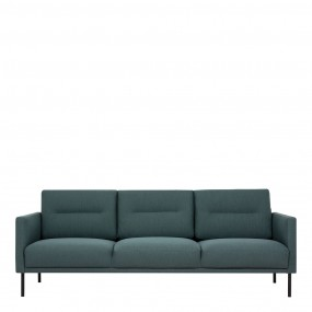 Larvik 3 Seater Sofa - Dark Green, Black Legs