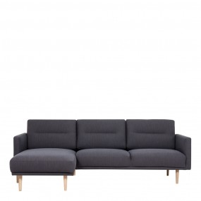 Larvik Chaiselongue Sofa  (LH) -  Antracit, Oak Legs
