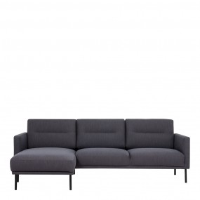 Larvik Chaiselongue Sofa (LH) - Antracit , Black Legs