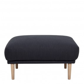 Larvik Footstool -  Antracit, Oak Legs