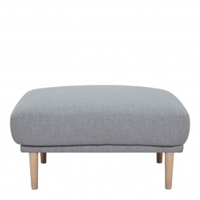 Larvik Footstool - Grey, Oak Legs