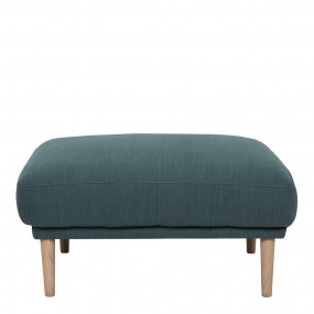 Larvik Footstool - Dark Green, Oak Legs