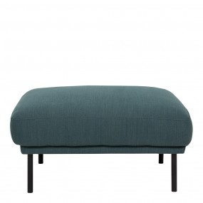 Larvik Footstool - Dark Green, Black Legs