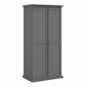Paris Wardrobe with 2 Doors in Matt Grey
