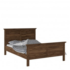 *Paris Double Bed (140 x 200) in Walnut