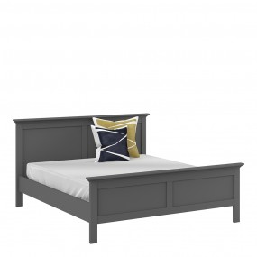 Paris Super King Bed (180 x 200) in Matt Grey