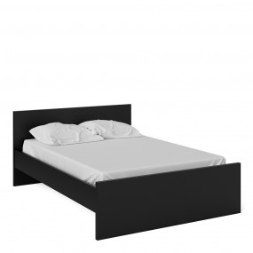 Naia Double Bed 4ft6 (140 x 190) in Black Matt