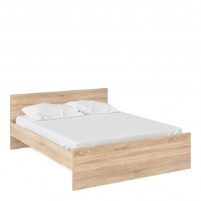 Naia Euro King Bed (160 x 200) in Oak
