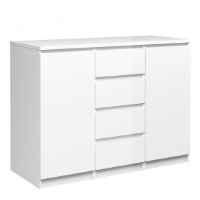 Naia Sideboard - 4 Drawers 2 Doors in White High Gloss