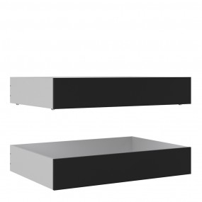 Naia Set of 2 Underbed Drawers (for Single or Double beds) in Black Matt